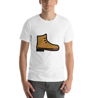Emoji T-Shirt Store | Hiking Boot emoji t-shirt in White