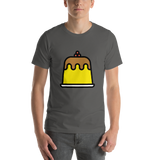 Emoji T-Shirt Store | Custard emoji t-shirt in Dark gray