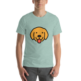 Emoji T-Shirt Store | Dog Face emoji t-shirt in Green