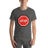 Emoji T-Shirt Store | Stop Sign emoji t-shirt in Dark gray