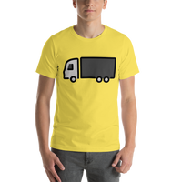 Emoji T-Shirt Store | Articulated Lorry emoji t-shirt in Yellow