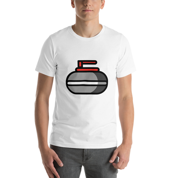 Emoji T-Shirt Store | Curling Stone emoji t-shirt in White