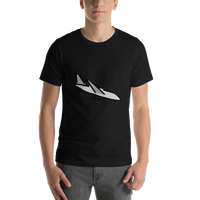 Emoji T-Shirt Store | Airplane Arrival emoji t-shirt in Black
