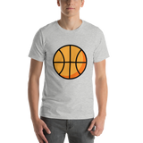 Emoji T-Shirt Store | Basketball emoji t-shirt in Light gray