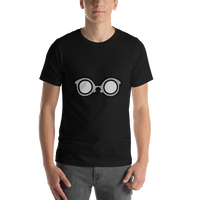 Emoji T-Shirt Store | Glasses emoji t-shirt in Black