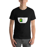 Emoji T-Shirt Store | Teacup Without Handle emoji t-shirt in Black