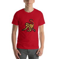 Emoji T-Shirt Store | Monkey emoji t-shirt in Red