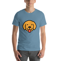 Emoji T-Shirt Store | Dog Face emoji t-shirt in Blue