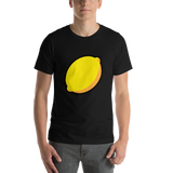 Emoji T-Shirt Store | Lemon emoji t-shirt in Black