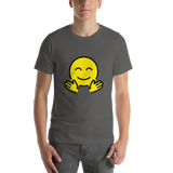 Emoji T-Shirt Store | Hugging Face emoji t-shirt in Dark gray