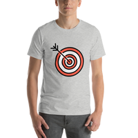 Emoji T-Shirt Store | Direct Hit emoji t-shirt in Light gray