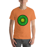 Emoji T-Shirt Store | Kiwi Fruit emoji t-shirt in Orange
