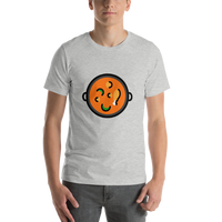 Emoji T-Shirt Store | Shallow Pan Of Food emoji t-shirt in Light gray