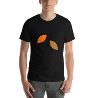 Emoji T-Shirt Store | Fallen Leaf emoji t-shirt in Black