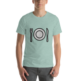Emoji T-Shirt Store | Fork And Knife With Plate emoji t-shirt in Green