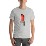 Emoji T-Shirt Store | Lipstick emoji t-shirt in Light gray