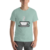 Emoji T-Shirt Store | Hot Beverage emoji t-shirt in Green