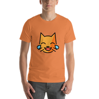 Emoji T-Shirt Store | Cat With Tears Of Joy emoji t-shirt in Orange