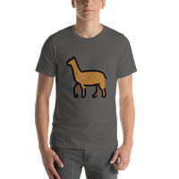 Emoji T-Shirt Store | Llama emoji t-shirt in Dark gray