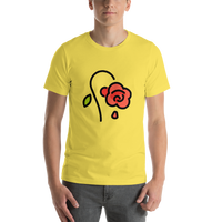 Emoji T-Shirt Store | Wilted Flower emoji t-shirt in Yellow
