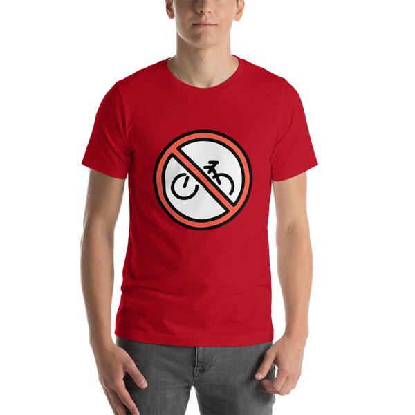 Emoji T-Shirt Store | No Bicycles emoji t-shirt in Red