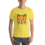 Emoji T-Shirt Store | Cat Face emoji t-shirt in Yellow