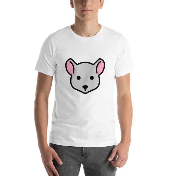 Emoji T-Shirt Store | Mouse Face emoji t-shirt in White