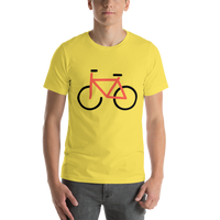 Emoji T-Shirt Store | Bicycle emoji t-shirt in Yellow