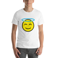 Emoji T-Shirt Store | Smiling Face With Halo emoji t-shirt in White