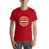 Emoji T-Shirt Store | No Entry emoji t-shirt in Red