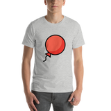 Emoji T-Shirt Store | Balloon emoji t-shirt in Light gray