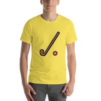 Emoji T-Shirt Store | Field Hockey emoji t-shirt in Yellow