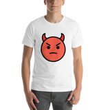 Emoji T-Shirt Store | Angry Face With Horns emoji t-shirt in White