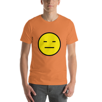 Emoji T-Shirt Store | Expressionless Face emoji t-shirt in Orange
