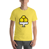Emoji T-Shirt Store | Ice Cream emoji t-shirt in Yellow