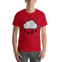 Emoji T-Shirt Store | Cloud With Snow emoji t-shirt in Red