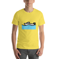 Emoji T-Shirt Store | Motor Boat emoji t-shirt in Yellow