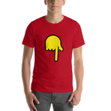 Emoji T-Shirt Store | Backhand Index Pointing Down emoji t-shirt in Red