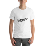 Emoji T-Shirt Store | Airplane Departure emoji t-shirt in White