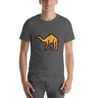 Emoji T-Shirt Store | Camel emoji t-shirt in Dark gray