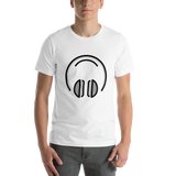 Emoji T-Shirt Store | Headphones emoji t-shirt in White