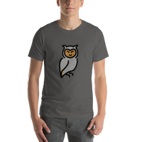 Emoji T-Shirt Store | Owl emoji t-shirt in Dark gray