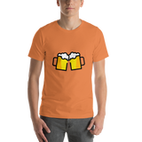 Emoji T-Shirt Store | Clinking Beer Mugs emoji t-shirt in Orange