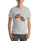 Emoji T-Shirt Store | Fallen Leaf emoji t-shirt in Light gray