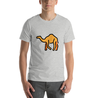 Emoji T-Shirt Store | Camel emoji t-shirt in Light gray