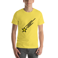 Emoji T-Shirt Store | Shooting Star emoji t-shirt in Yellow
