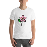 Emoji T-Shirt Store | Cherry Blossom emoji t-shirt in White