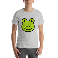Emoji T-Shirt Store | Frog emoji t-shirt in Light gray