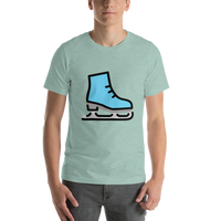 Emoji T-Shirt Store | Ice Skate emoji t-shirt in Green