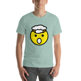 Emoji T-Shirt Store | Exploding Head emoji t-shirt in Green
